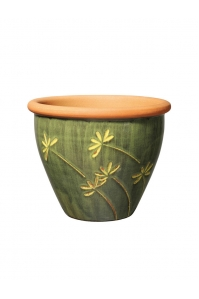 Кашпо deroma graminees vaso 19 verde d19 h16 см