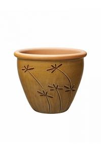 Кашпо deroma graminees vaso 19 marrone d19 h16 см