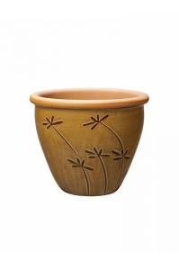 Кашпо deroma graminees vaso 14 marrone d14 h12 см