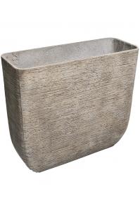 Кашпо d&m indoor pot rough xl taupe l75 w27 h70 см